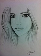 Awesome Drawings Originals - Young Lady by Sean Puleo