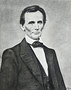 President Lincoln Drawings - Young Lincoln by Richard Barone