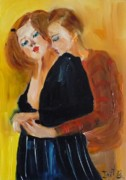 Young Love Painting Originals - Young Love by Irit Bourla