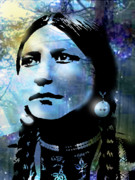 Tribes Painting Prints - Young Maiden Print by Paul Sachtleben