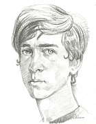 Young Man Drawings - Young Man by Lixandro Cordero