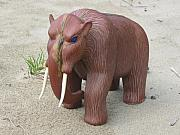 Prehistoric Sculptures - Young Mastodon by Jason Nelson