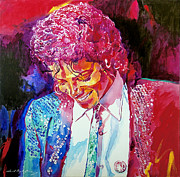 Celebrity Painting Prints - Young Michael Jackson Print by David Lloyd Glover