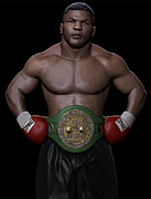 Heavyweight Digital Art Posters - Young Mike Tyson Poster by Douglas Petty