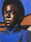 Black Man Pastels - Young Miles by L Cooper