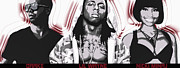 Lil Wayne Framed Prints - Young Money by GBS Framed Print by Anibal Diaz