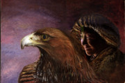 Kazakhstan Digital Art - Young Mongolian Girl With Golden Eagle by Gerard Mignot