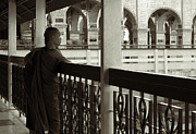 Young Monks In Mandalay Hill Print by RicardMN Photography