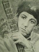 Mccartney Drawings Originals - Young Paul by Joanna Gates