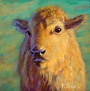 Buffalo Paintings - Young Prince of the Prairie by Theresa Paden