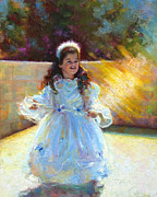 Painterly Painting Prints - Young Queen Esther Print by Talya Johnson
