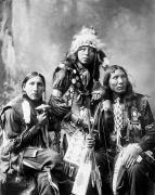 Shirt Framed Prints - Young Sioux Men, 1899 Framed Print by Granger