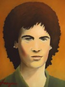 Rock And Roll Posters - Young Susan Boyle Portrait Poster by Dan Haraga