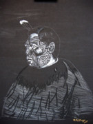 Maori Paintings - Young Tane by Richard Le Page