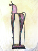 Proud Sculpture Prints - Young Trumpeting Horse Print by Al Goldfarb