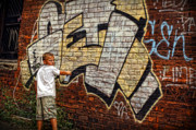 Nyc Digital Art Originals - Young Vandal Too by Gordon Dean II