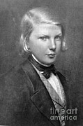 Victor Hugo Prints - Young Victor Hugo, French Author Print by Photo Researchers