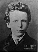 Aged Photo Framed Prints - Young Vincent Van Gogh, Dutch Painter Framed Print by Photo Researchers