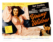 Lobbycard Framed Prints - Young Widow, Jane Russell, 1946 Framed Print by Everett