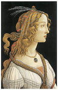 Guise Framed Prints - Young Woman in Mythical Guise Framed Print by Sandro Botticelli