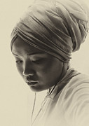 Young Woman In Turban Prints - Young woman in turban Print by Sheila Smart