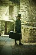 Jacket Photos - Young Woman With Suitcase by Joana Kruse