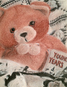 Blanket Drawings Framed Prints - Young Years Framed Print by Jessica Grace Leahy