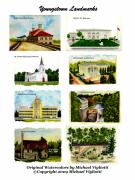 Creek Drawings Acrylic Prints - Youngstown Landmarks Collage 1 Acrylic Print by Michael Vigliotti