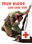 Ww11 Framed Prints - Your Blood Can Save Him Framed Print by War Is Hell Store