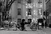 Horse And Cart Metal Prints - Your Carriage Awaits Metal Print by Kristine Patti