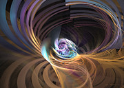 Office Space Digital Art Prints - Your inner cosmos exceeds the outer one Print by Fractal art - Sipo Liimatainen