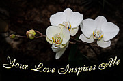 Inspirational Saying Prints - Your Love Inspires Me Print by Andee Photography