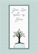Your Love Makes Me Grow Print by Aimelle