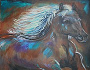 Wild Horse Paintings - Your Majesty by Leslie Allen