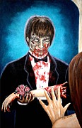 Walking Dead Paintings - Your Prom Dates at the Door by Al  Molina