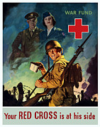 Store Digital Art - Your Red Cross Is At His Side  by War Is Hell Store