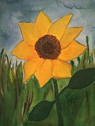 The Sun God Drawings Posters - Your SunFlower Poster by Cara Surdi