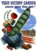 Historic Garden Posters - Your Victory Garden Counts More Than Ever Poster by War Is Hell Store