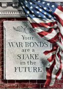 American Flag Digital Art Prints - Your War Bonds Are A Stake In The Future Print by War Is Hell Store
