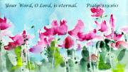 Bible Verse Prints - Your Word O Lord Print by Anne Duke