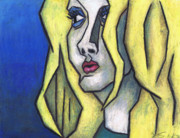 Oil Pastel Prints Originals - Youre Beautiful by Kamil Swiatek
