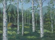 Dry Lake Paintings - Youre Invited to My Aspen Forest by Zanobia Shalks