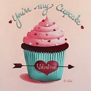 You're My Cupcake Valentine Print by Catherine Holman
