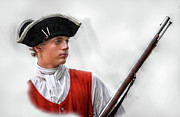 Fort Ligonier Posters - Youthful Soldier with Musket Poster by Randy Steele