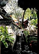 Faa Painting Prints - Yu Garden in Shanghai Print by Alfred Ng
