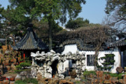 Shanghai China Tapestries Textiles Originals - Yu Yuan Garden Shanghai by Christine Till