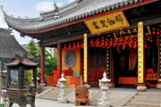 Tradition Metal Prints - Yuanjin Chanyuan Temple - Zhu Jia Jiao Ancient Town Metal Print by Christine Till