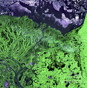 Yukon River Prints - Yukon Delta, Alaska Print by Nasa