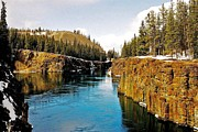 Yukon Territory Framed Prints - Yukon River and Miles Canyon - Whitehorse Framed Print by Juergen Weiss