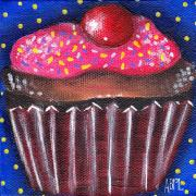Cupcake Paintings - Yummy 4 by  Abril Andrade Griffith